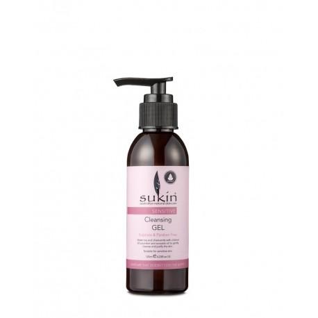Sukin, SENSITIVE Oczyszczający żel do mycia twarzy skóra wrażliwa, 125ml