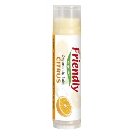 Friendly Organic, Organiczny balsam do ust, cytrusowy, 4,25g