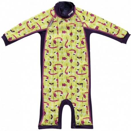 Close, Ocieplany kombinezon do pływania dla dziecka, Flaming (Lala and Bugsy), X-Large (24-36 miesięcy)