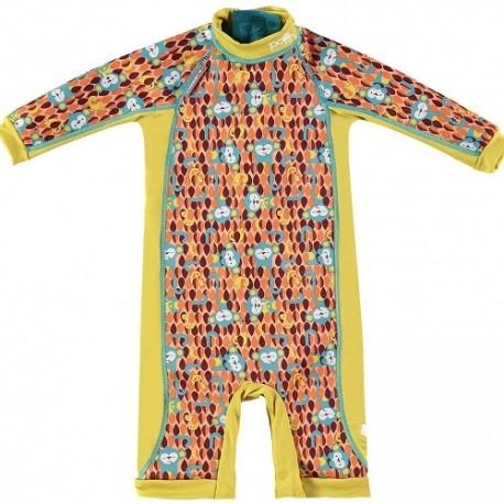 Close, Ocieplany kombinezon do pływania dla dziecka, Małpki (Ticky and Bert), X-Large (24-36 miesięcy)