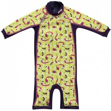 Close, Ocieplany kombinezon do pływania dla dziecka, Flaming (Lala and Bugsy), Large (18-24 miesięcy)