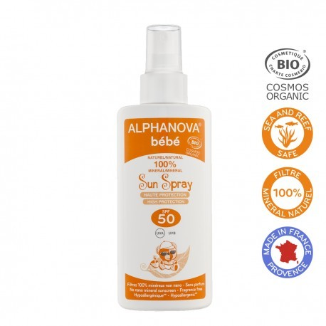 Alphanova Bebe Przeciwsloneczny Spray o wysokim filtrze SPF 50