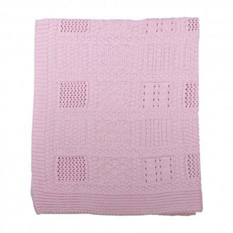 Kitikate, Kocyk Tkany z Bawełny Organicznej, 75x75cm, Frame, Pink