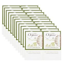 Organiczne Patyczki Kosmetyczne do Uszu (200 szt) - KARTON 24 opakowania