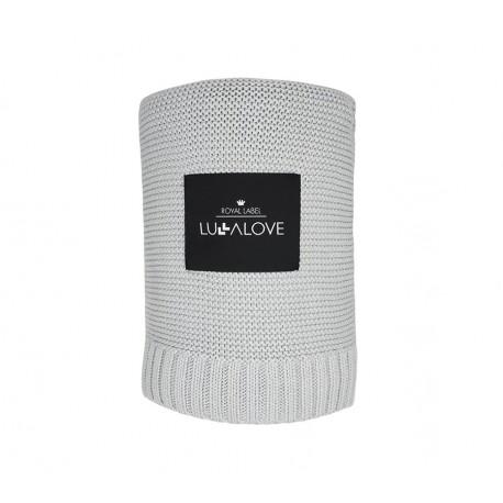 LullaLove, Duży Koc Bambusowy 100x120, Szary