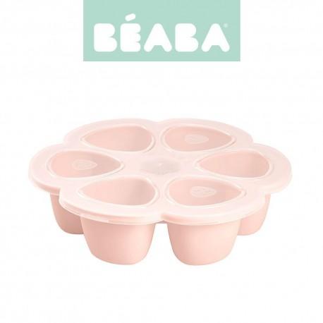 Beaba, Silikonowy pojemnik do mrożenia 6 x 90 ml pink