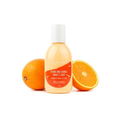 Uoga Uoga, Żel pod prysznic Round and Orange. What's that? z pomarańczą, 250ml