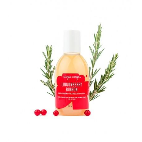 Uoga Uoga, Naturalny szampon Lingonberry Ribbon do włosów przetłuszczających się, 250ml