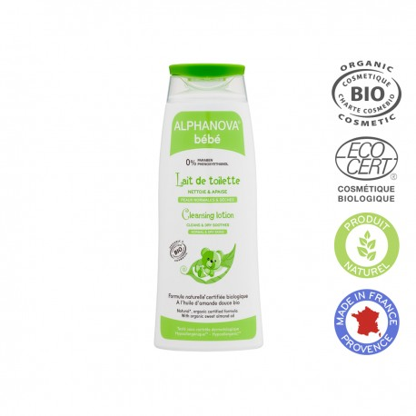 Alphanova Bebe Organiczne mleczko z migdałami do mycia niemowląt, 200 ml