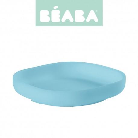 Beaba, Silikonowy talerzyk z przyssawką, blue