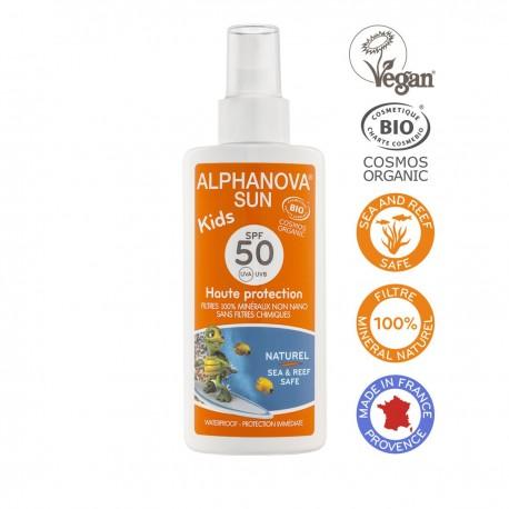 Alphanova Bio Spray Przeciwsłoneczny, filtr 50, KIDS, 125 ml
