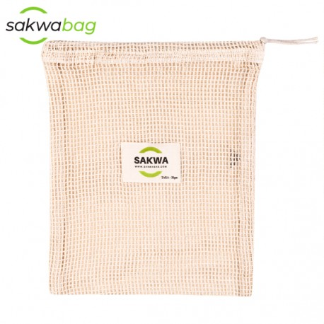 Sakwabag, Worek na zakupy zero waste, duży, 30x40cm, tara 40g