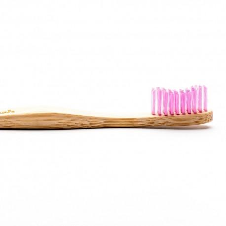 Humble Brush, Bambusowa szczoteczka do zębów dla dorosłych, Medium, fioletowa