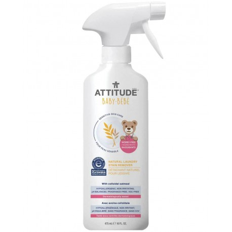 Attitude, Naturalny odplamiacz do tkanin w sprayu, Sensitive Skin Baby, 475ml