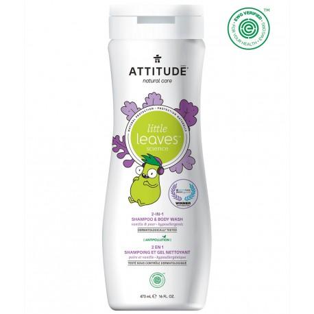 Attitude, Płyn do mycia i szampon 2w1, Gruszkowy Nektar i Wanilia, Little Ones, 473 ml