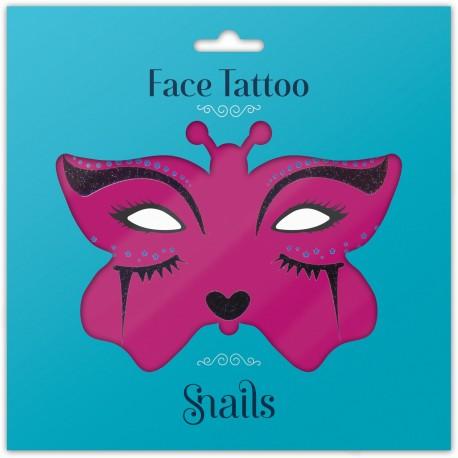 Snails, Naklejka na twarz dla dzieci, Face Tattoo - Midnight Cat