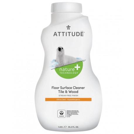 Attitude, płyn do mycia podłóg (drewno i terakota) Skórka Cytrynowa (Citrus Zest), 1050 ml
