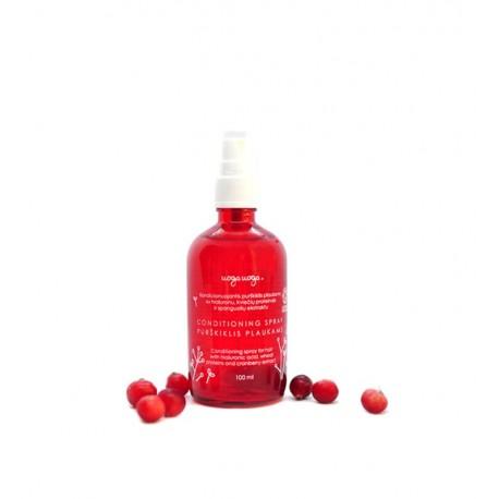 UogaUoga, Odżywka w sprayu do włosów z kwasem hialuronowym, 100ml