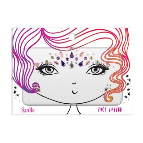 Snails, Naklejka na twarz dla dzieci, Face Tattoo - Jewel Queen