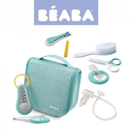 Beaba Kosmetyczka z 9 akcesoriami do pielęgnacji niemowląt mint