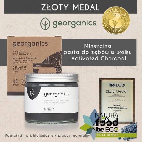 Georganics, Mineralna pasta do zębów w słoiku Activated Charcoal, 120ml