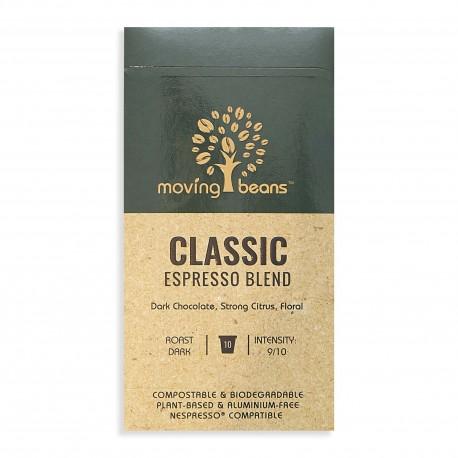 Kawa do Nespresso ®, kompostowalne kapsułki. Moving Beans,  Classic Espresso Blend, 10 szt.