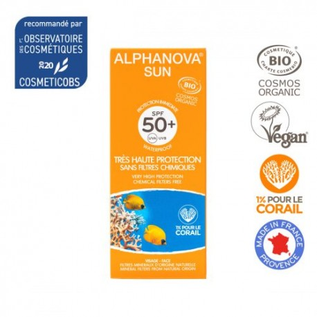 Alphanova Bio, Ekologiczny Krem Przeciwsłoneczny, filtr SPF50, 50 ml