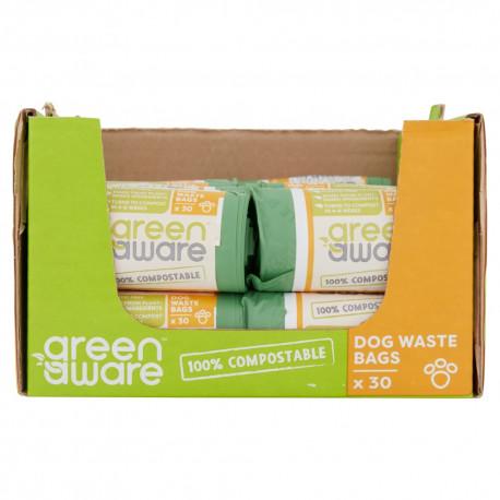 GreenAware, Kompostowalne worki na psie  śmieci i odpady, 30 szt. x 40 KARTON
