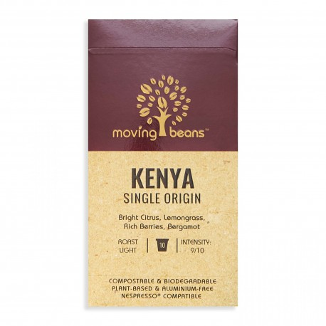 Kawa do Nespresso ®, kompostowalne kapsułki. Moving Beans,  Kenya Single Origin, 10 szt.