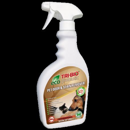 TRI-BIO, Probiotyczny Spray Usuwający Nieprzyjemne Zapachy Zwierząt i Odplamiacz 2w1, 420 ml