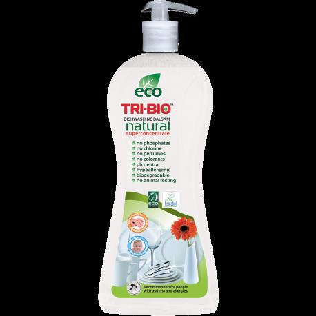 TRI-BIO, Ekologiczny Skoncentrowany Balsam do Mycia Naczyń, 840 ml