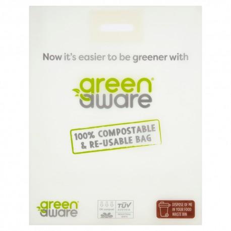 GreenAware, Kompostowalna reklamówka wielokrotnego użytku 45x56cm