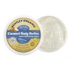 ORGANICZNE masło kokosowe do ciała, Bentley Organic, 200g NOWOŚĆ - KARTON, 6szt.
