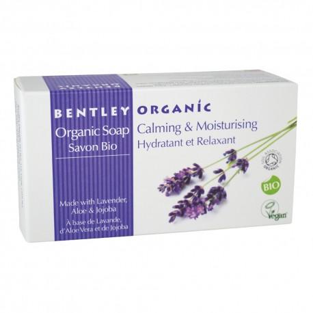 Bentley Organic, Nawilżające i Łagodzące  Mydło z Aloesem, Lawendą i Jojobą, 150 g